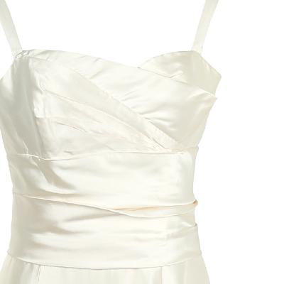 sleeveless trumpet line dress cream